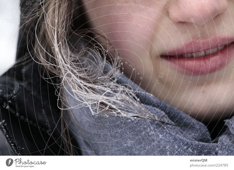 Frozen Breath. Esthetic Cold Protection against the cold Winter Winter's day Winter festival Lips Nose Face Hair and hairstyles Anorak Temperature Frost