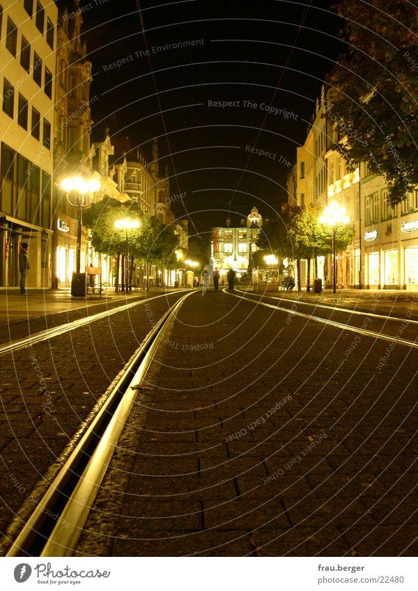 Street Lamp Empty Railroad tracks Store premises Thuringia Erfurt