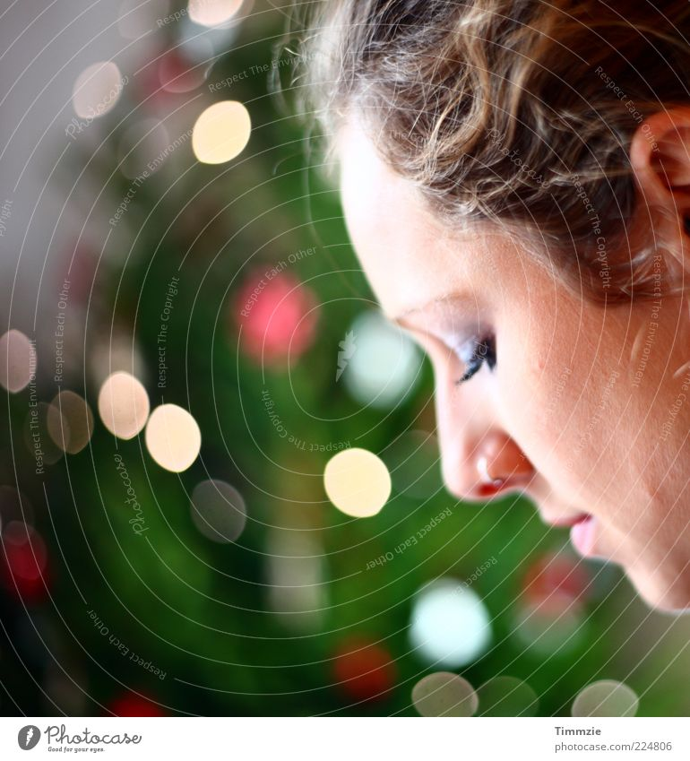 Jesus birthday Young woman Youth (Young adults) Face 1 Human being 18 - 30 years Adults Piercing Think Feasts & Celebrations Dream Beautiful Contentment Trust