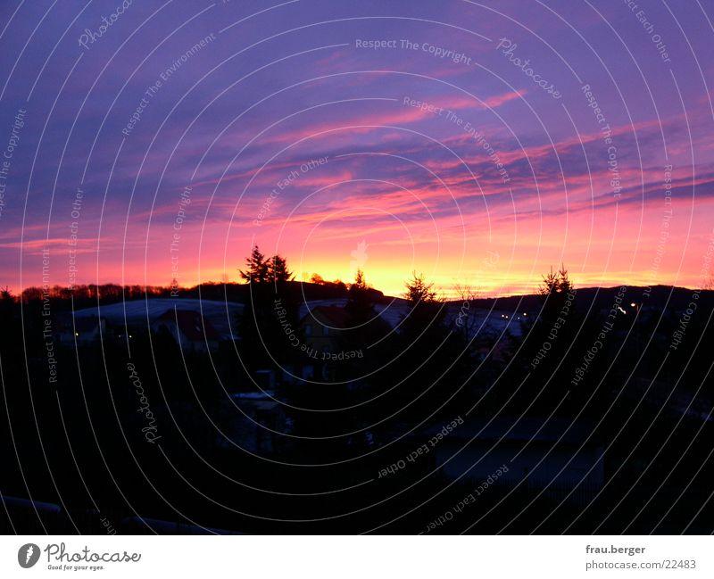 sunset in NN Sunset Erfurt Visual spectacle Night niedernissa landscape in the dark