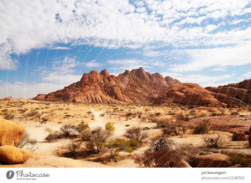 Namibia Spitzkoppe Nature Landscape Summer Rock Mountain Desert Vacation & Travel Colour photo Exterior shot Deserted Day Panorama (View)