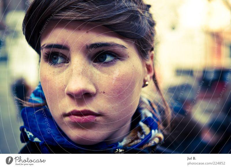 Nature Beautiful Face Fresh Discover Brunette Lust Bangs Portrait photograph Neckerchief