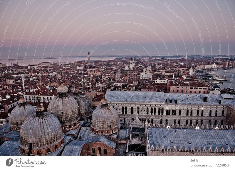 City Far-off places Stone Lifestyle Esthetic Roof Chaos Old town Venice Domed roof Old building Lagoon Italy