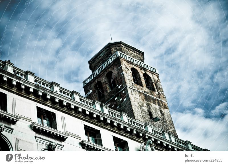 Clouds(scratches) Work of art House (Residential Structure) Large Power Uniqueness Historic Old building Facade Glazed facade Tower Sky Veil of cloud