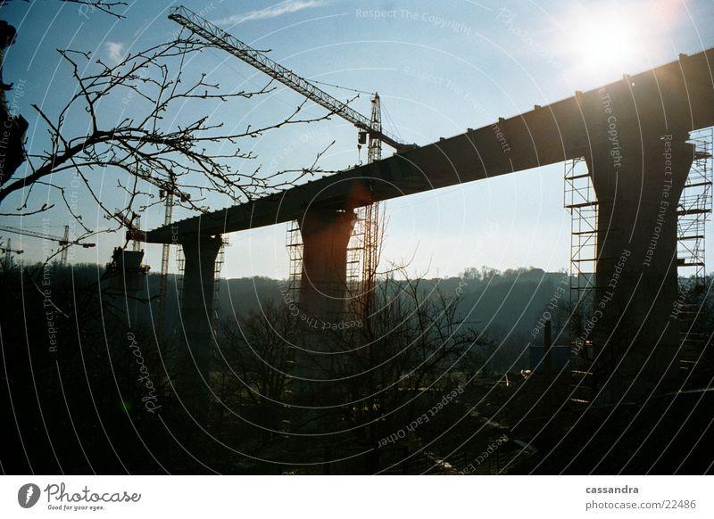 bridge building Bridge building Light Highway Crane Moody Construction site Level