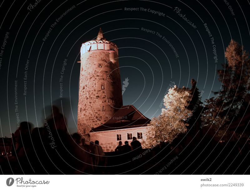 Old tower Human being Bautzen Lausitz forest Germany Small Town Downtown Old town Populated Manmade structures Tower Tourist Attraction Landmark Stand Authentic
