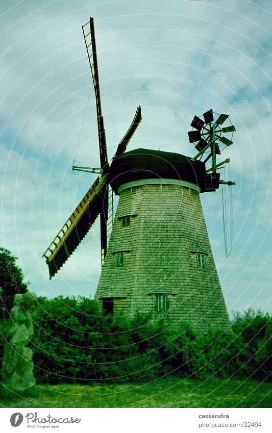 Wind Island Past Manmade structures Historic Flour Mill Windmill