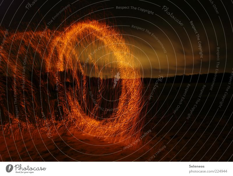 Sky Nature Clouds Dark Landscape Environment Lamp Glittering Trip Adventure Fire Circle Illuminate Firecracker Burn Spark