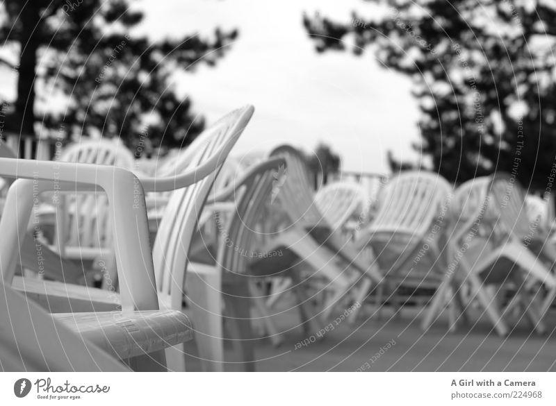 White Summer Calm Wait Closed Table Chair Simple Idyll Gastronomy Plastic Balcony Restaurant Café Terrace Seating