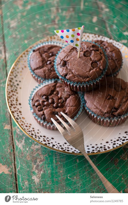 chocolate muffins Food Dough Baked goods Dessert Candy Muffin Nutrition To have a coffee Picnic To enjoy Delicious Sweet Colour photo Interior shot