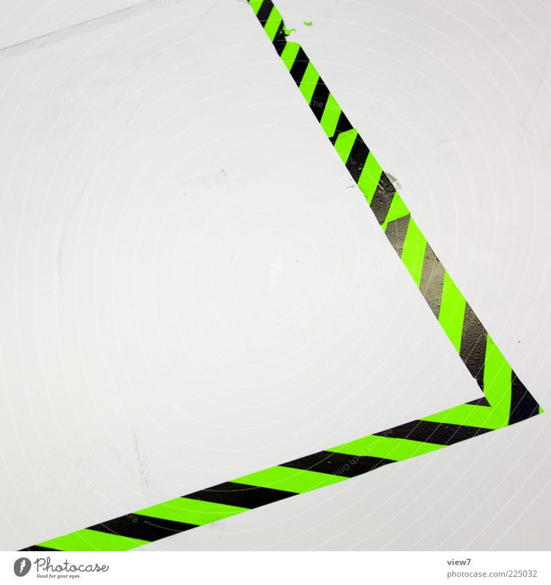 White Green Line Elegant Beginning Esthetic Modern New Floor covering Stripe Authentic Uniqueness Simple Signage Sign Plastic