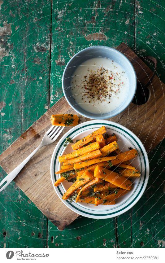 healthy snack Food Yoghurt Dairy Products Vegetable Carrot Parsley Pepper Nutrition Eating Organic produce Vegetarian diet Diet Fasting Snack Plate Bowl Fork