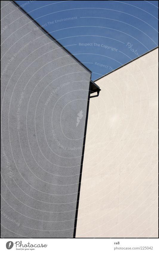 Wall (building) Wall (barrier) Contentment Facade Esthetic Corner Blue sky