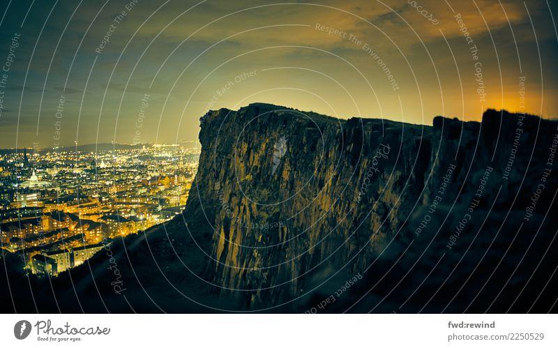 Old Dark Environment Senior citizen Tourism Rock Trip Illuminate Glittering Esthetic Power Adventure Beginning Wait Observe Hill