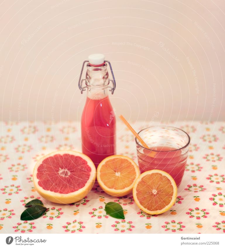 Juicy Fruit Food Orange Nutrition Organic produce Slow food Beverage Cold drink Juice Bottle Glass Straw Fresh Delicious Citrus fruits Grapefruit blood orange