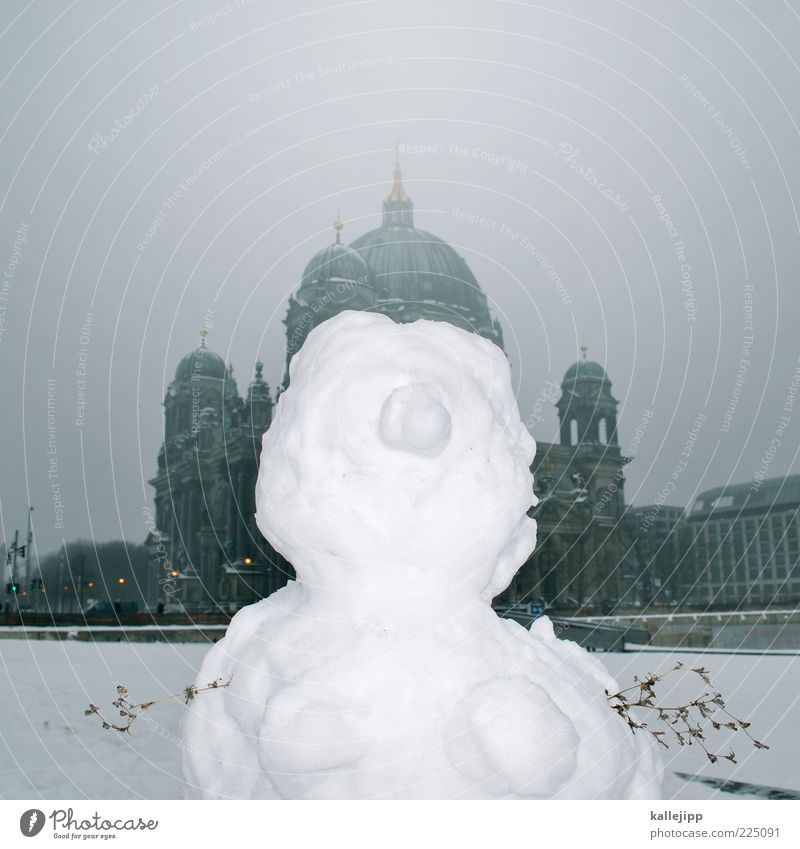 White Winter Snow Berlin Weather Funny Ice Fog Places Tourism Climate Church Frost Historic Whimsical Figure
