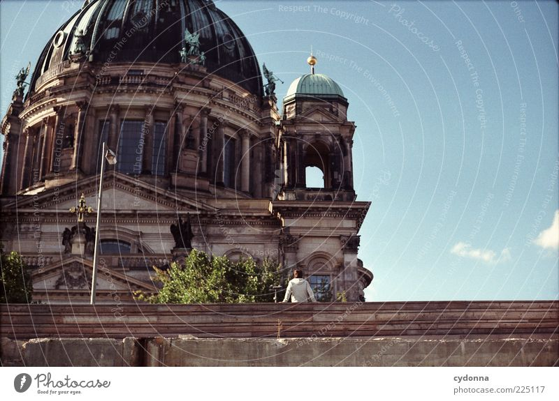 Sky Vacation & Travel Calm Life Berlin Architecture Religion and faith Trip Tourism Break Uniqueness Belief Analog Tourist Downtown Berlin Dome