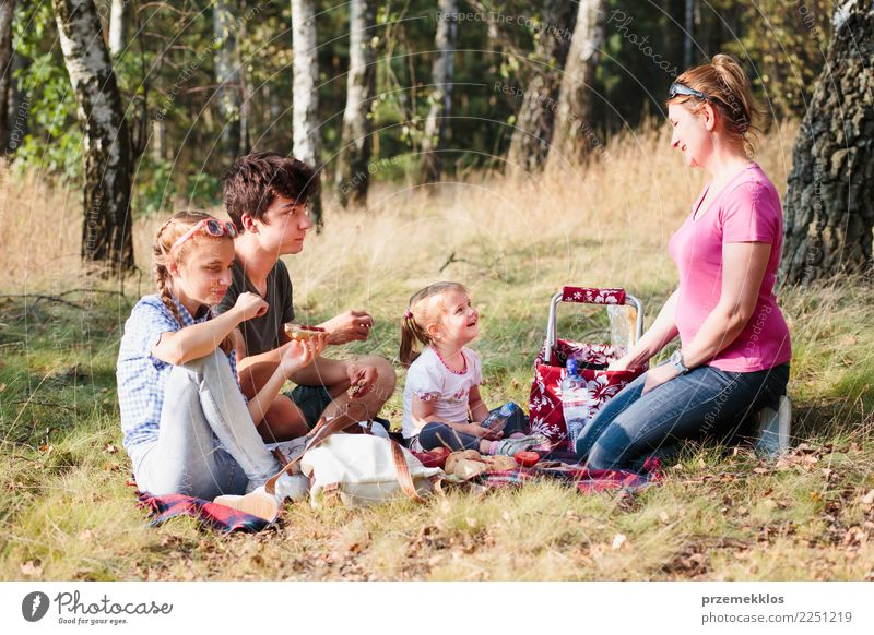 Family spending vacation time together on a picnic Child Human being Nature Vacation & Travel Youth (Young adults) Young woman Plant Summer Landscape Tree