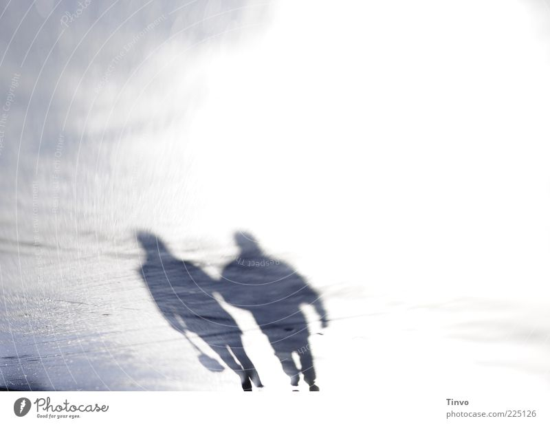 pair of shadows Woman Adults Man 2 Human being Pedestrian Street Going Agreed Together Light (Natural Phenomenon) Couple To go for a walk Places Colour photo