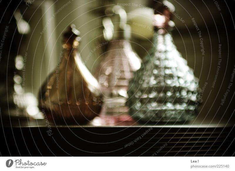 Blue Colour Brown Pink Glass Table Retro Exceptional Bottle Fragrance Perfume Glassbottle