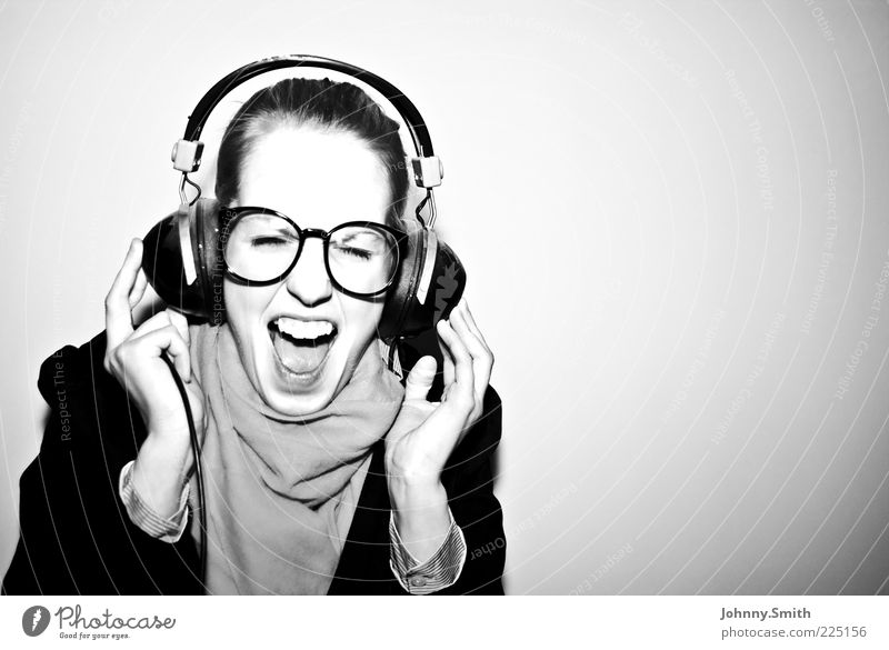 I'm taking off!!!! Lifestyle Joy Well-being Music Headphones Dance Listen to music Eyeglasses Scarf To enjoy Authentic Happiness Happy Beautiful Modern Positive