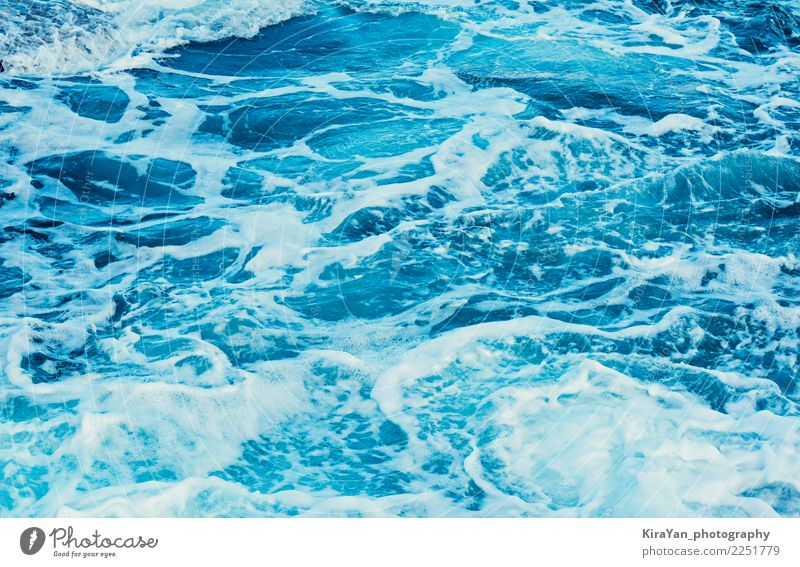 Aqua blue sea water, texture natural light and waves Nature Blue Summer Colour Water White Ocean Beach Natural Movement Bright Waves Fresh Wind