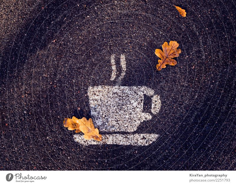 Autumn is the time for hot drinks Leaf Dark Black Street Eating Yellow Lifestyle Small Tourism Party Brown Moody Success Shopping Cool (slang)