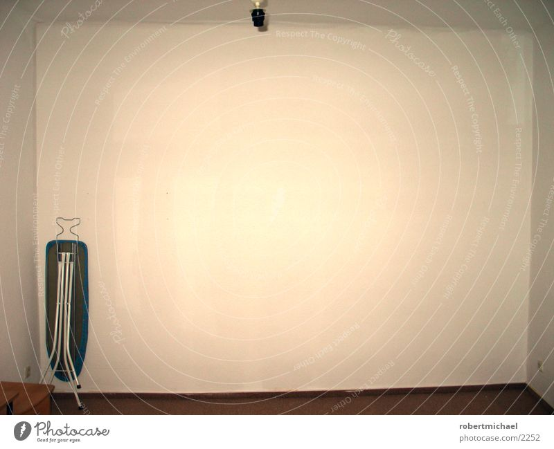 surfing or ironing? Ironing board Wall (building) Light Flat (apartment) Empty Forget Room Wallpaper Things Bright background Copy Space top Copy Space right