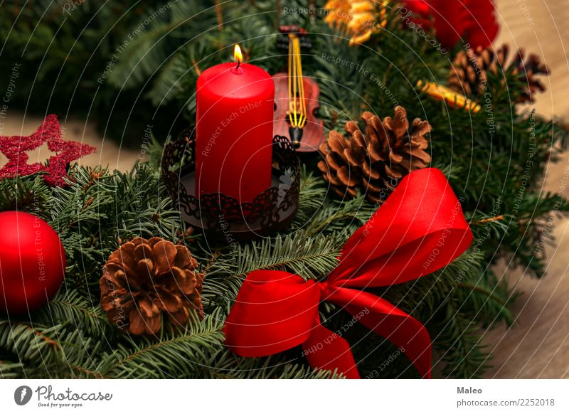 Advent Christmas & Advent Christmas Fair Christmas wreath Decoration December Feasts & Celebrations Festive Flame Happiness Happy Green Background picture
