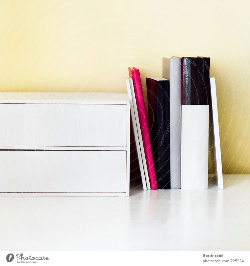 reading Workplace Smart Desk Reading matter Know Book spine of a book Box Colour photo Interior shot Studio shot Copy Space top Copy Space bottom Booklet Folder