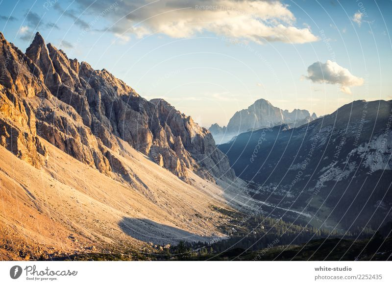 mountain worlds Nature Landscape Beautiful weather Alps Mountain Dolomites civetta Peak Hiking Italy Vacation & Travel Mountaineering Slope Steep face