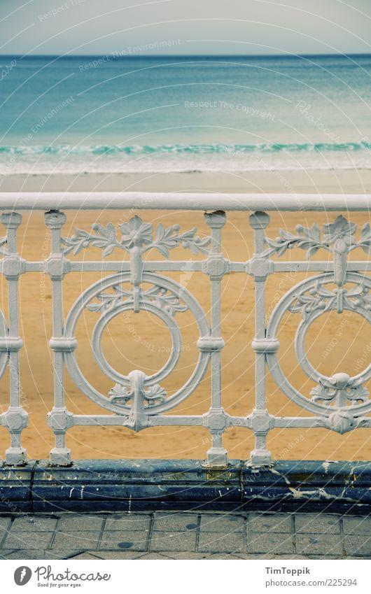 playa de la concha Ocean Relaxation Beach Promenade Vacation & Travel Vacation mood Sea promenade Sea water Spain Bilbao Handrail Paving stone Wrought iron Iron