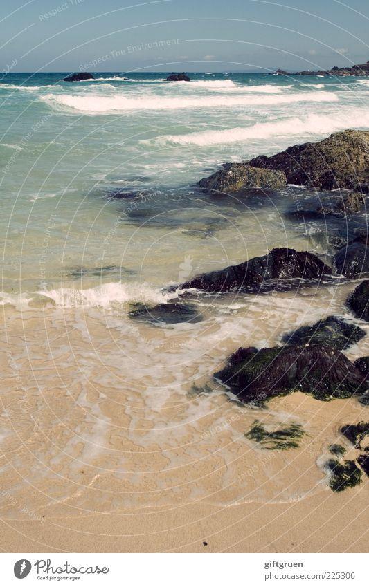 Sky Nature Water Beautiful Summer Beach Ocean Landscape Environment Sand Stone Coast Waves Horizon Rock Elements