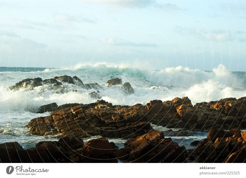forces of nature Environment Nature Landscape Elements Earth Water Sky Clouds Waves Coast Ocean Bright Wet Natural Wild Swell White crest Force Massive Stone