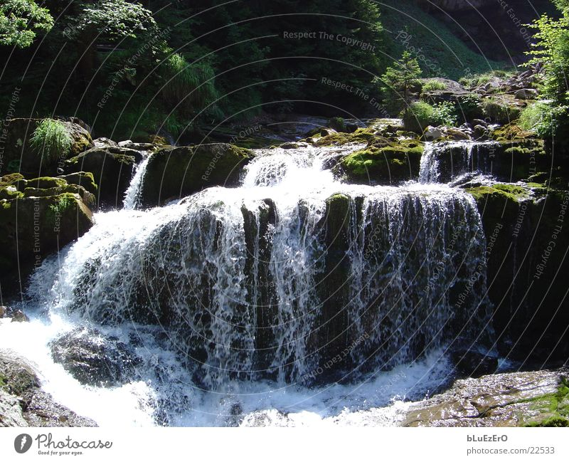mountain stream Brook Water Mountain Nature Waterfall Power