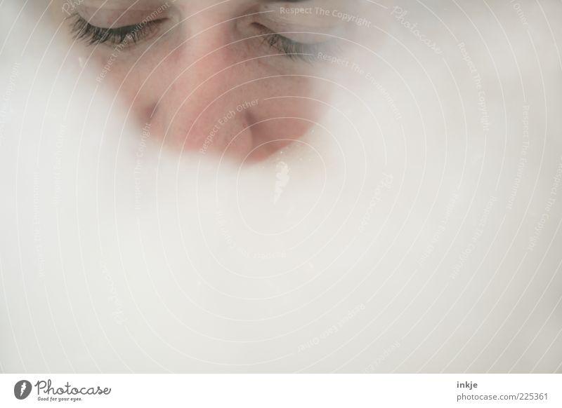 Human being White Calm Face Eyes Relaxation Life Emotions Think Dream Moody Bright Swimming & Bathing Break Wellness Bathtub