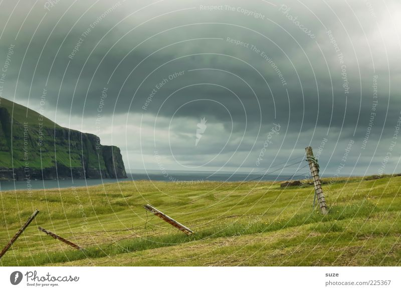 Sky Nature Blue Green Ocean Landscape Clouds Environment Mountain Meadow Grass Coast Wood Moody Weather Climate