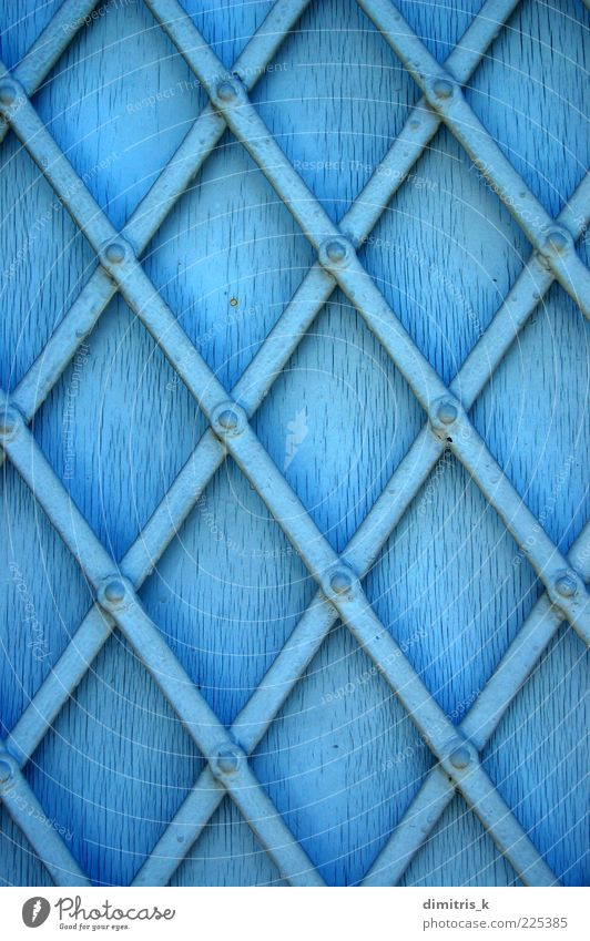 metal window shutter Blue Architecture Metal Art Background picture Dirty Diagonal Steel Decline Crack & Rip & Tear Material Surface Greece Weathered Cut