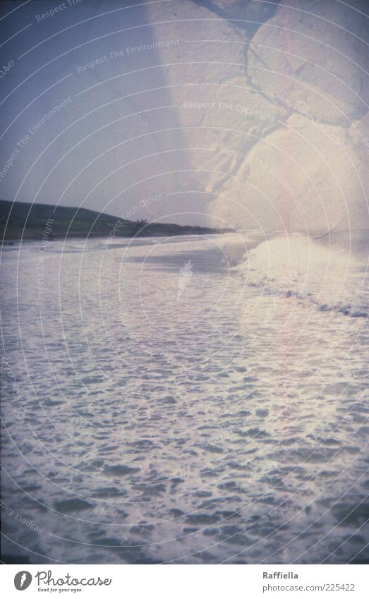 Sky Water Blue Ocean Landscape Coast Earth Double exposure White crest Morocco Cloudless sky