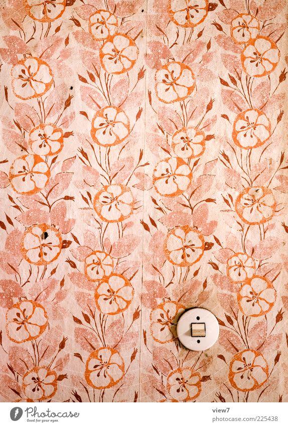 Old Red Pink Dirty Interior design Retro Round Transience Wallpaper Original Abrasion Light switch To wallpaper Wallpaper pattern
