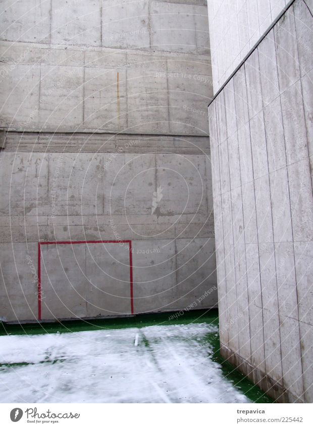 Red Winter House (Residential Structure) Cold Environment Wall (building) Architecture Gray Building Wall (barrier) Moody Facade Concrete Soccer Gloomy