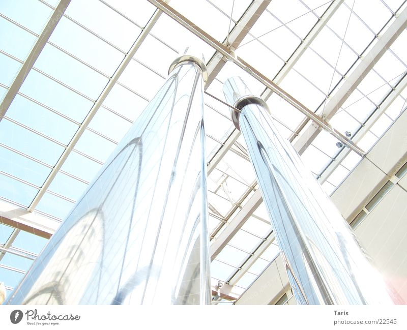 Chrome in the sky Reflection Roof Architecture Blanket Sky Bright