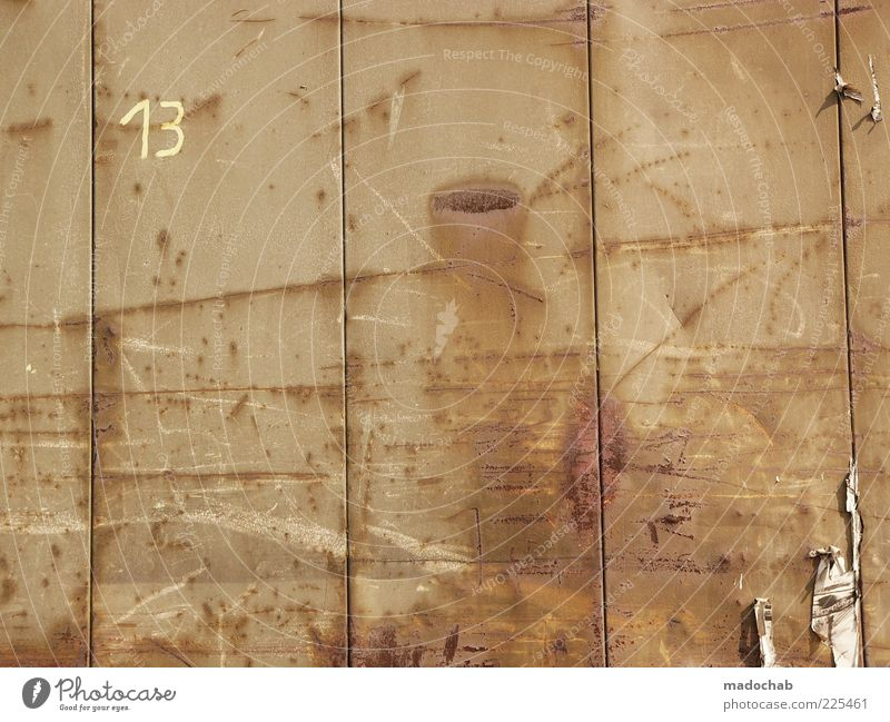 Wall (building) Style Wall (barrier) Line Metal Time Background picture Design Esthetic Culture Digits and numbers Tracks Sign Steel Past Rust