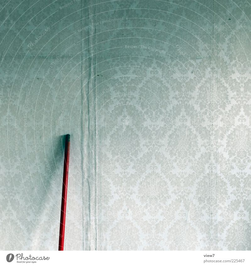 Old Red Room Dirty Design Arrangement Esthetic Interior design Authentic Stripe Retro Uniqueness Change Transience Infinity Sign