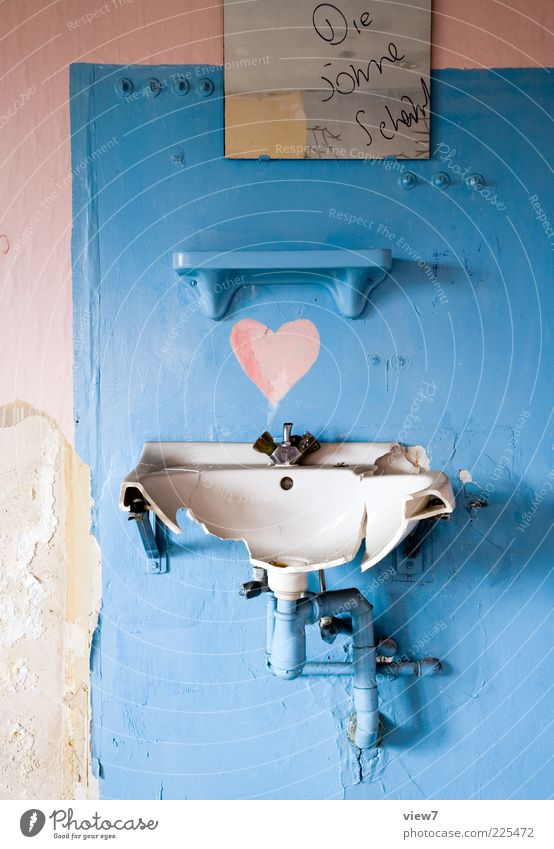 Old Blue Beautiful Pink Heart Dirty Modern Esthetic Characters Happiness Authentic Decoration Broken Transience Bathroom Simple