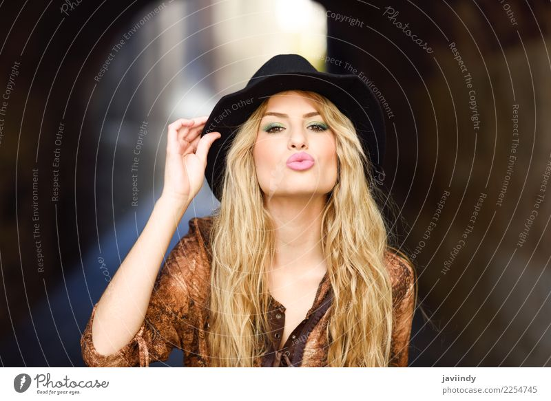 Girl wearing shirt and hat in urban background. Happy Beautiful Hair and hairstyles Human being Feminine Young woman Youth (Young adults) Woman Adults 1