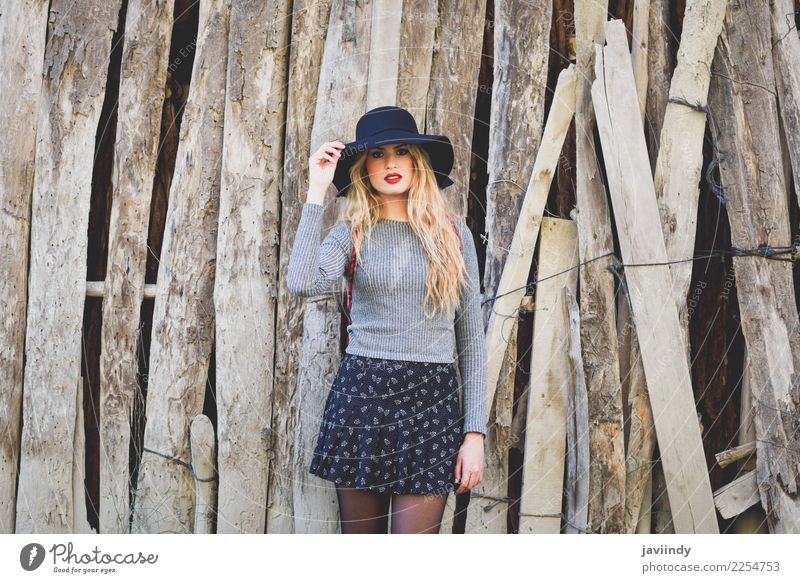 Young blonde woman in rural background. Woman Human being Nature Youth (Young adults) Beautiful Young man 18 - 30 years Adults Natural Feminine