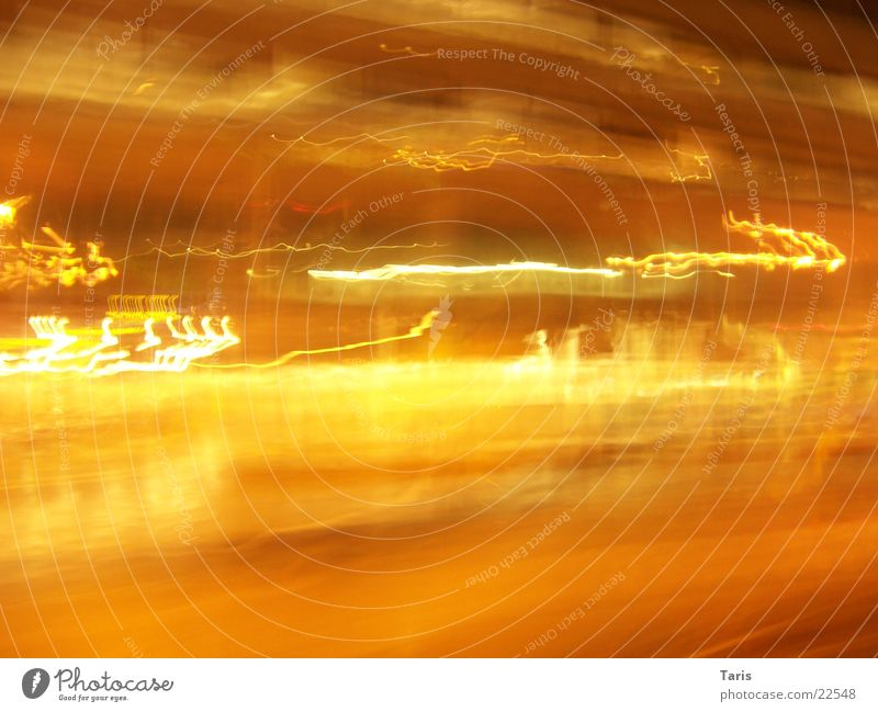 Yellow Street Dark Movement Car Bright Stripe Exposure