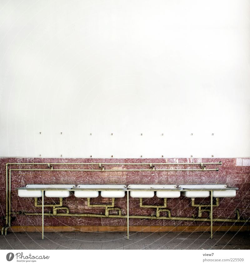 barracks Wallpaper Room Bathroom Stone Metal Line Stripe Old Authentic Simple Cheap Long Red Apocalyptic sentiment Arrangement Pure Far-off places Symmetry Row