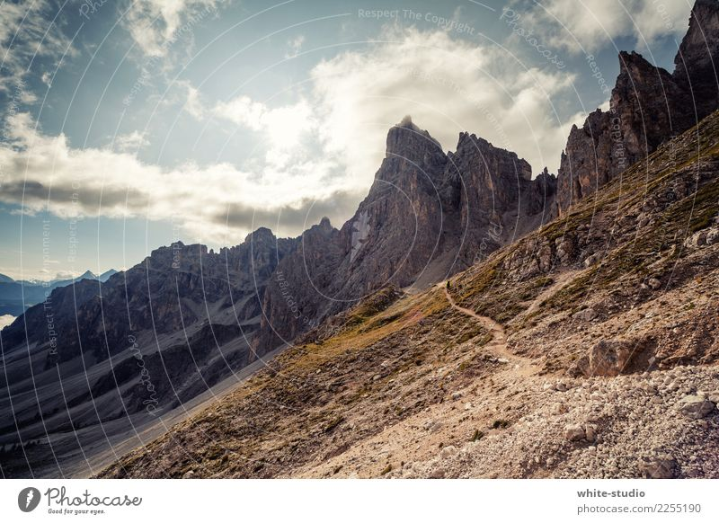 Scratchy Dolomites Environment Nature Mountain Hiking South Tyrol Colour photo Exterior shot